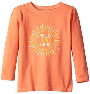Life is Good Hello Sunshine Long Sleeve Crusher Tee Girl's T Shirt