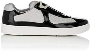 Prada Men's Patent Leather & Mesh Sneakers