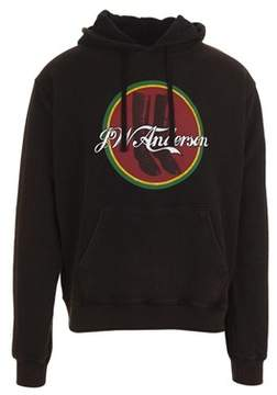 J.W.Anderson Men's Black Cotton Sweatshirt.