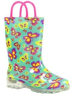Western Chief Flutter Fierce Lighted Rain Boot.