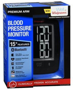 Walgreens Premium Arm Blood Pressure Monitor 2016