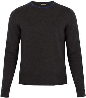 Bottega Veneta Contrasting-collar wool and cashmere-blend sweater