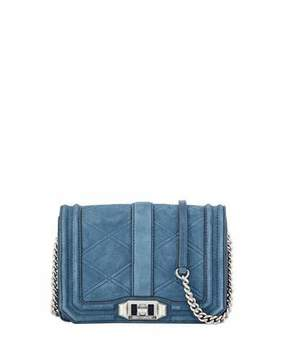 Rebecca Minkoff Love Small Quilted Nubuck Leather Crossbody Bag