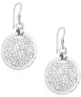 Lois Hill Filigree Sterling Silver Drop Earrings