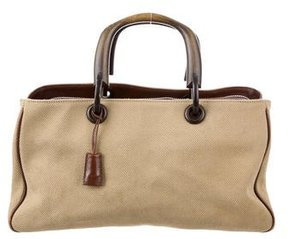 Gucci Canvas Handle Bag - NEUTRALS - STYLE