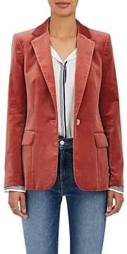Frame Women's Classic Cotton-Blend Velvet Blazer