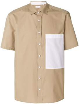 Joseph contrast chest pocket shirt