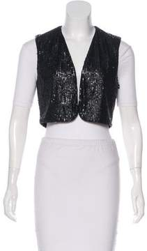 Susana Monaco Sequined Cropped Vest w/ Tags