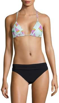 Pilyq Women's Printed Halter Bikini Top