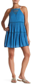 En Creme Lace Inset Mini Dress