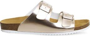 Office Hype 2 metallic double strap sandals