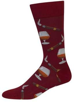 Hot Sox Cigar and Cognac Wine Socks