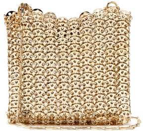 Paco Rabanne Iconic Small Chain Shoulder Bag - Womens - Light Gold