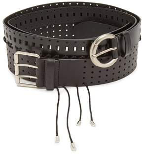 Maison Margiela Perforated leather wraparound belt