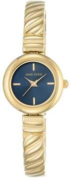 Anne Klein Goldtone Navy Blue Dial Bracelet Watch