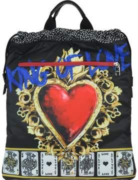 Dolce & Gabbana Sacred Heart Print Backpack