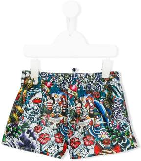 DSQUARED2 printed swim shorts