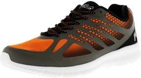 Fila Men's Memory Speedstride Castlerock / Black Vibrant Orange Ankle-High Running Shoe - 8.5M