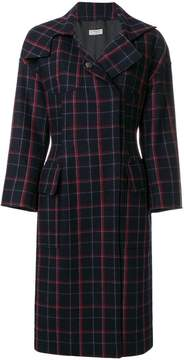Alberto Biani plaid concealed button coat