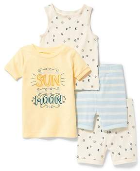 Old Navy Sun & Moon 4-Piece Sleep Set for Toddler & Baby