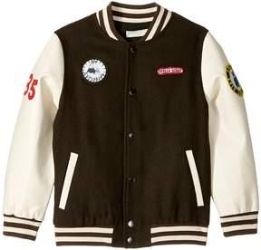 Stella McCartney Donald Wool Varsity Jacket with Patches Boy's Coat