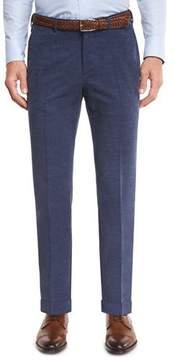 Ermenegildo Zegna Corduroy Flat-Front Trousers, Blue