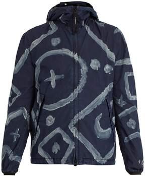 C.P. Company Goggle graphic-print cotton-blend jacket