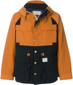 Neighborhood colour-block zipped jacket