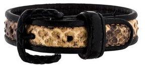 Bottega Veneta Snakeskin & Leather Bracelet