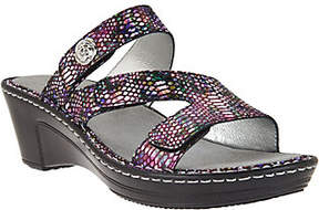 Alegria As Is Leather Triple Strap Wedge Sandals - Loti