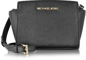 Michael Kors Black Saffiano Leather Selma Mini Messenger Bag - ONE COLOR - STYLE