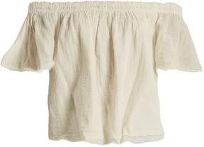 Velvet by Graham & Spencer X Kirsty Hume Begonia cotton-gauze top