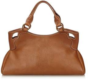 Cartier Vintage Leather Marcello Handbag