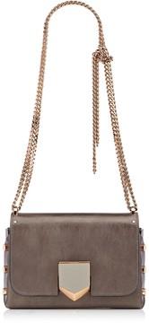 Jimmy Choo LOCKETT PETITE Paloma Vintage Etched Metallic Spazzolato Shoulder Bag