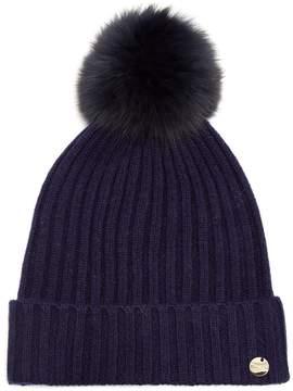 Yves Salomon Fur pompom-embellished wool-blend hat
