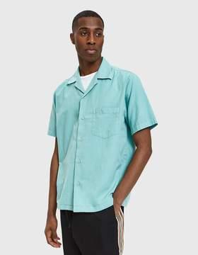 Cmmn Swdn Duncan Open Collar Shirt in Mint