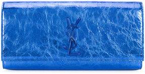 Saint Laurent Classic Monogram clutch - BLUE - STYLE