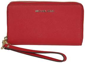 Michael Kors Michael Lg Flat Zip Around Wallet - RED - STYLE
