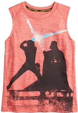 Star Wars A Collection For Kohls Boys 4-7x a Collection for Kohl's Luke Skywalker and Darth Vader Light Saber Tank