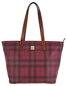 Dooney & Bourke Tiverton Plaid Large ZipShopper Handbag - ONE COLOR - STYLE