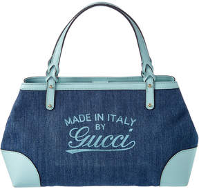 Gucci Blue Denim Hawaii Tote - ONE COLOR - STYLE