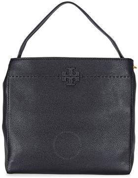 Tory Burch McGraw Leather Hobo Bag - Black - ONE COLOR - STYLE