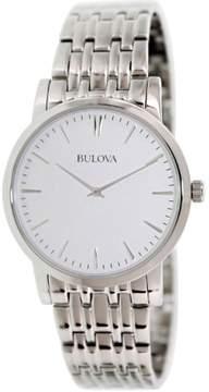 Bulova Men's Stainless Steel Bracelet Watch 38mm 96A115