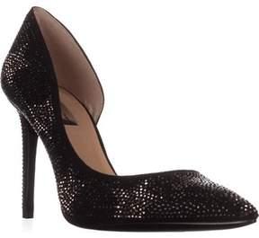 INC International Concepts I35 Kenjay9 D'orsay Pointed-toe Heels, Black Stars.