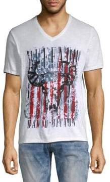 Buffalo David Bitton Printed Cotton Tee