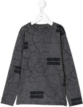 Antony Morato cracked print longsleeved T-shirt