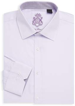 English Laundry Men's Herringbone Cotton Dress Shirt
