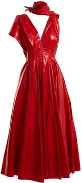 Calvin Klein Tie-neck A-line dress