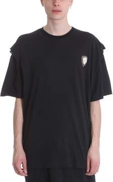 Ih Nom Uh Nit Double Layer Black Cotton T-shirt