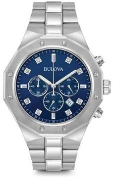 Bulova 96D138 Blue/Silver Stainless Steel Men's Watch